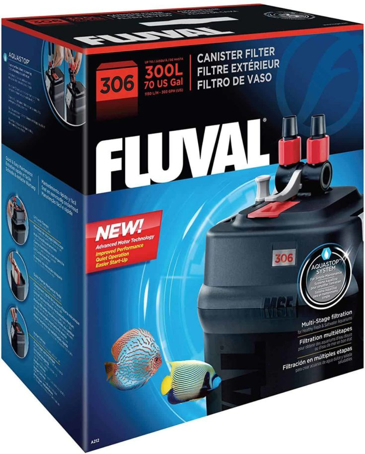Fluval 306 External Filter Packaging isolated in white background