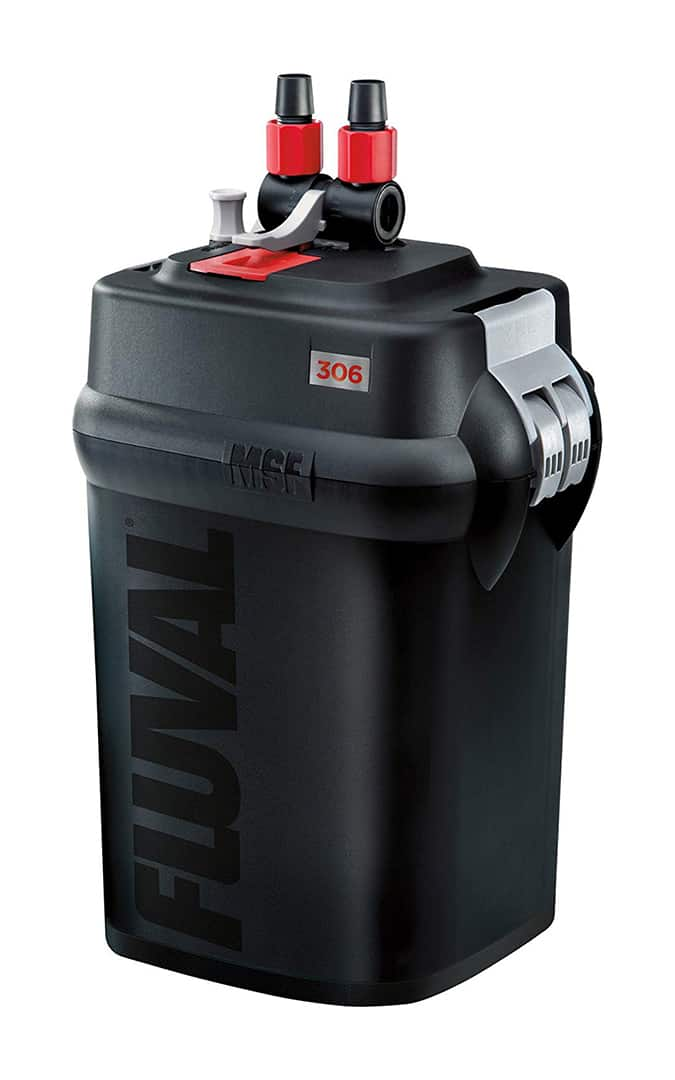 Fluval 306 Canister Filter isolated in white background