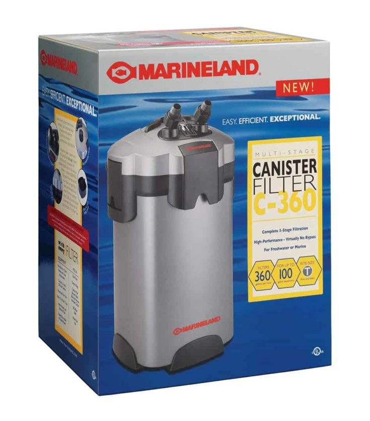 Marineland Multi-Stage Canister Filter C-360 packaging box