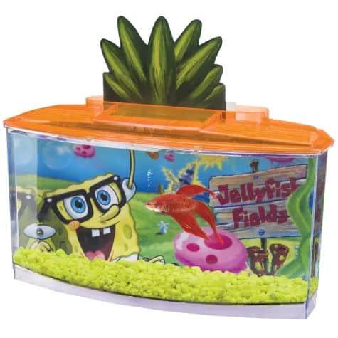 Penn Plax SpongeBob Squarepants Betta Aquarium Kit, 0.7 Gallon