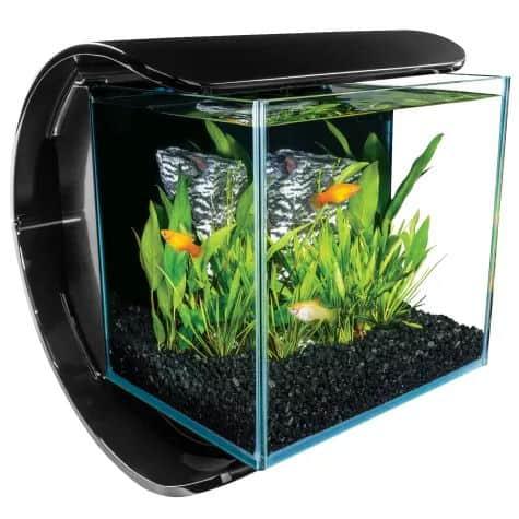 Marineland 3 Gallon Silhouette Glass LED Aquarium Kit